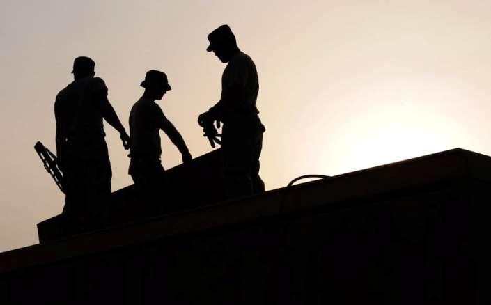 construction crew silhouette